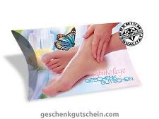 """Gutscheinkarten /""""Standard/"""" für Fußpflege Nägel FU1203 Pediküre Nagelstudio"""
