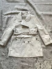 Burberry Jr White Trench Coat For 4 Y Old Girl