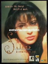 """VERY RARE 1995 SELENA QUINTANILLA """"DREAMING OF YOU"""" EMI LATIN PROMOTIONAL POSTER"""