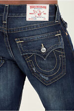 True Religion Men's Slim W Flap Pocket Jeans Size 36 x 34 NWT Lost Lagoon Wash