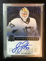 2013-14 The Cup Jeff Zatkoff Rookie Auto Penguins /249