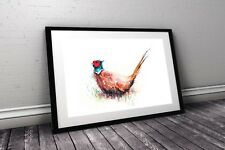 WILL ELLISTON Fine Art Print of My Original Pheasant Watercolour Painting Signed