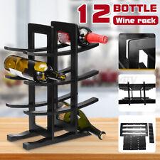 4 Tier 12 Bottle Standing Countertop Wine Rack Holder Storage Bar Display Shelf