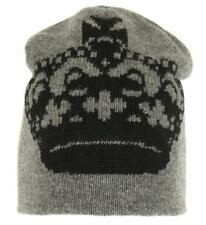 4f430fd9805e0 NEW DOLCE   GABBANA LUXURY GRAY 100% WOOL CROWN BEANIE HAT ONE SIZE UNISEX