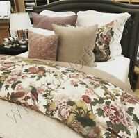 Pottery Barn Kamala Duvet Cover Set Purple Queen 2 Standard Shams Palampore New