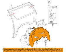 GM OEM Rear-Fender Liner Inner Splash Shield Guard Left 15938663