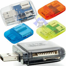 LETTORE Carte SD MicroSD Card M2 Duo MS Adattatore USB 2.0 Pen MEMORIA Drive MMC