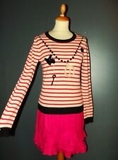 TOPSHOP PULL PREPPY TROMPE L OEIL COLLIERS BAYADERE PAMPILLES T UK 10 OU 38/42