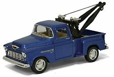 New Kinsmart 1955 Chevy 3100 Stepside Tow Truck Diecast Model Toy 1:32 Blue