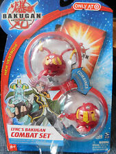 BAKUGAN New Vestroia Red Pyrus ALTAIR & WIRED LYNC's Combat Set 2009!