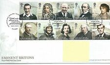 GB - FIRST DAY COVER - FDC - COMMEMS -2009-  EMINENT BRITONS - Pmk TH