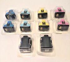 TEN Sealed HP 02 Ink Carts Genuine Ireland 2ea: Blk Cyan/Lt Cyan Lt Mag Yellow