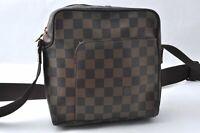 Authentic Louis Vuitton Damier Olav PM Shoulder Bag N41442 LV B1637