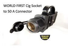 Cig Socket  Adaptor with 2 Rubber Covers