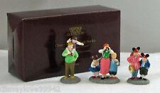 Dept 56 Disney Parks Village Series Family w Mouse Ears Porcelain Figures