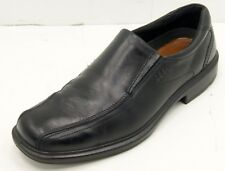 ECCO Helsinki  Black Leather Bicycle Toe Slip On Shoes Men's 44 /10-10.5
