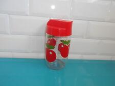 HENKEL Pommes pot en verre vintage distributeur 17cm bocal 70's