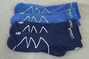 2 Pairs Salomon XA Pro Trail Running socks 6-9 Blue & Navy