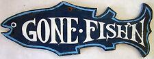 "Original Wood ""Gone Fishing"" Sign"