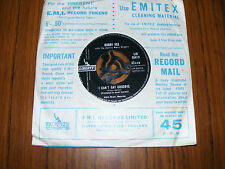 """Bobby  Vee  I Can't Say Goodbye  /  Please Don't Ask About Barbara  Original 7"""""""