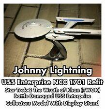 Johnny Lightning Star Trek TWOK USS Enterprise NCC 1701 Refit Model With Stand