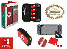 Mario M Edition Nintendo Switch Accessory Kit Bundle Case Screen Protector More