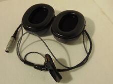 RAF MK 4 Series Flying Helmet Headphones/Down Leads/Lemo Plug