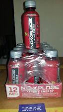 12 Pack Bottle Case Of  N.O.-Xplode Xtreme Energy Drink 16 Oz Fruit Punch 04/18