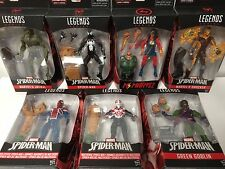 LOT of 7X AMAZING SPIDER-MAN Marvel Legends BAF SANDMAN 2099 GREEN GOBLIN ++ SET