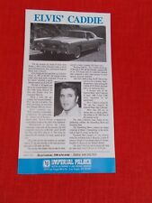 ELVIS PRESLEY 1976  CADILLAC ELDORADO COUPE LAST VACATION CAR FLYER INFO