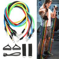 11pcs/set Pull Rope Fitness Exercise Resistance Bands Training Workout Yoga