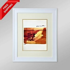 Andy Warhol - Electric Chair, Original Hand Signed Print with COA