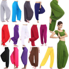 Womens Harem Yoga Pants Causal Hippie Gypsy Wide Leg Dance Baggy Loose Trousers