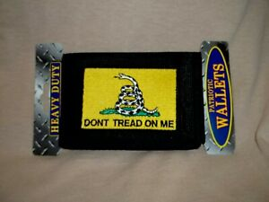 Wallet With the Yellow, Don't Tread On Me Embroidered Onto It