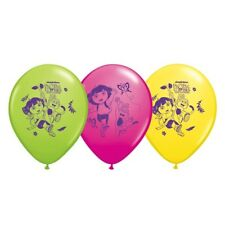 "6 pc 12"" Dora the Explorer Latex Party Balloons Happy Birthday Nickelodeon Boots"