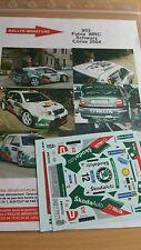 Decals 1/18 réf 953 Skoda Fabia WRC  Schwartz Tour de Corse 2004