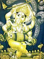 """Ganesha Batik Sarong Pareo  Wrap Green Rayon Beach Cover up 44x64"""" Zenda Imports"""