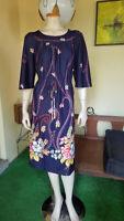 Merry Mary Vtg 70s Floral Empire Waist Hippy Boho Chic Day Dress Maternity XL