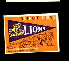 2023* 1959 Topps # 139 Lions Pennant Ex-Mt