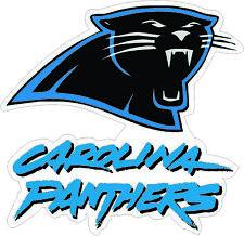 "Camiseta de Jersey Carolina Panthers Nº Nfl Football Pared Decoración de la etiqueta engomada, etiqueta del vinilo grande 10""x 9.5"""