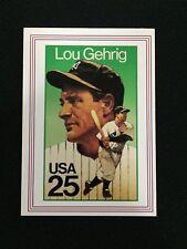 LOU GEHRIG YANKEES ODD BALL STAMP RETRO 1989 POSTAL BASEBALL CARD