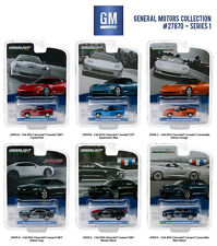 GENERAL MOTORS COLLECTION SERIES 1, 6pc SET 1/64 DIECAST MODELS GREENLIGHT 27870