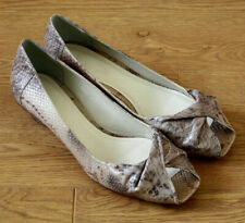 Clarks Chess Move Ladies Natural Snake Skin Peep Toe Court Shoes UK 6D EU 39.5