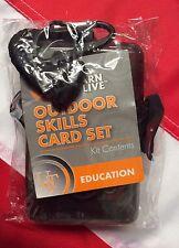 Outdoor skills card set survival emergency disaster tactical UST 6pocket guides