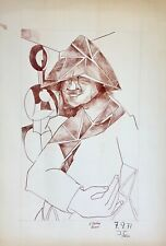 Jacques CHAUVIN - Dessin original - Encre - Portrait