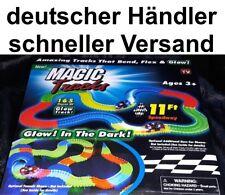 Autorennbahn flexibel Auto Rennstrecke flexible Schienen leuchtend Magic Tracks