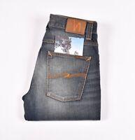 29177 Nudie Jeans Grim Tim Org. Lovely Dust blue Men Jeans in size 31/32