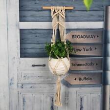 Garden Macrame Plant Hanger Flowerpot Holder String Hanging Rope Wall Art Decor
