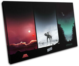 Star Wars Trilogy Posters Movie Greats SINGLE CANVAS WALL ART Picture Print
