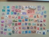 lot N°23 - 90 timbres INDE